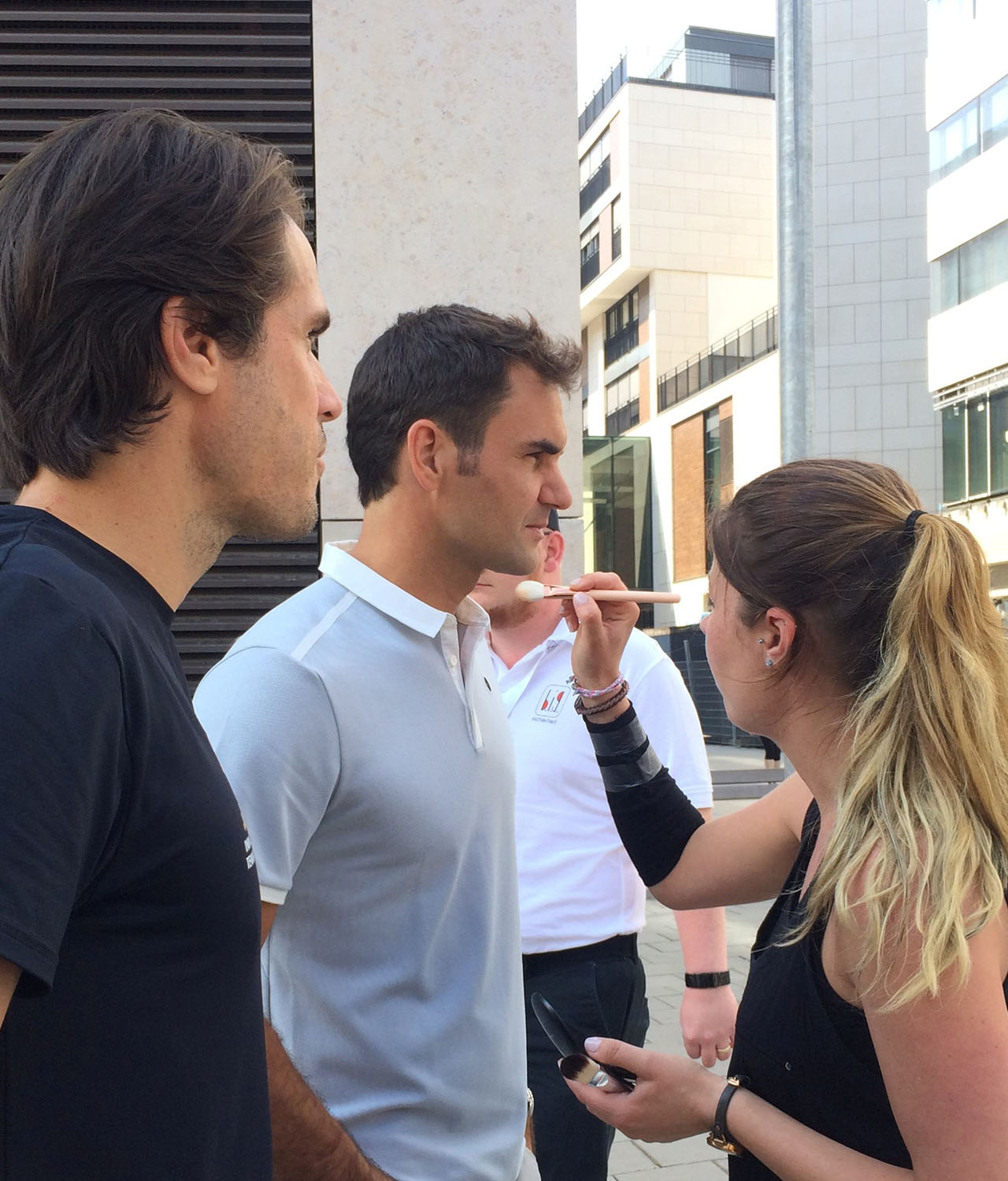 Foto Shooting mit Roger Federer und Tommy Haas